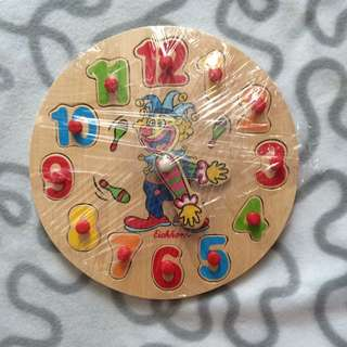 Wooden Puzzle Clock