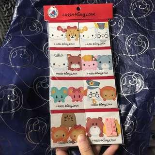 Hello kitty memo紙 旱有角色 sanrio