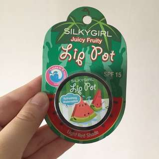 Silkygirl Lip Pot SPF15 (Light Red Shade)