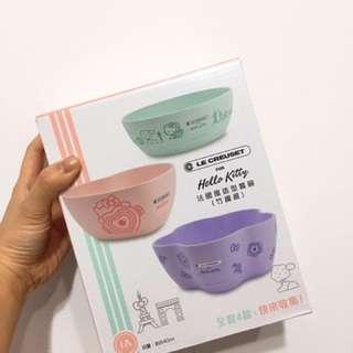 🚚 🇫🇷7-11 LE CREUSET FOR Hello Kitty 法國風造型餐碗 餐盤 (竹纖維) 711集點