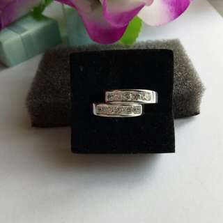 925 Italy silver couple rings