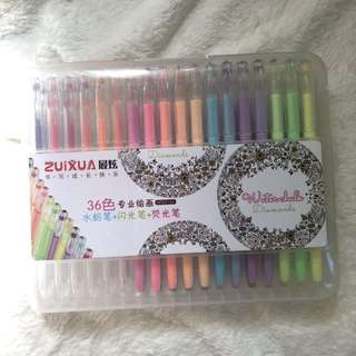 Zuixua gel pens 36pcs