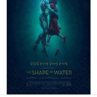 The Shape of Water  (2 tickets) on 31 Jan 18 (Wed)