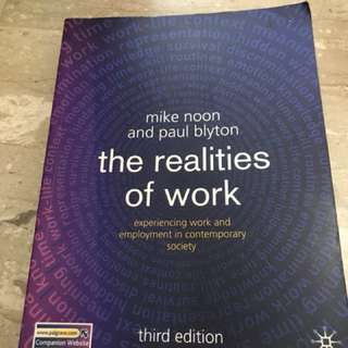 Textbook - The Realities of Work