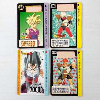 龍珠Z 萬變咭 共4張 白咭 Dragon Ball Z