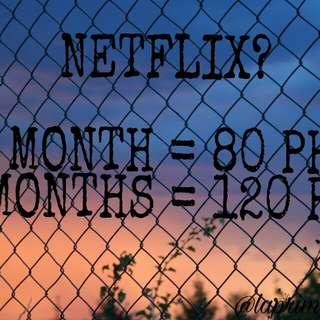 80 PESOS 1 MONTH NETFLIX