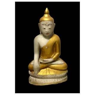 Burmese Shan period (18th century) Alabaster Seated Buddha