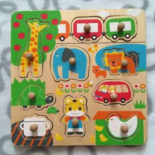 2 Sided Wooden Puzzle
