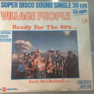 "Village People ‎– Ready For The 80's, 12"" Single Vinyl, Metronome ‎– 0900.183, 1979, Germany"