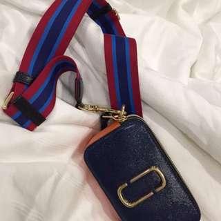 marc jacobs Snapshot Cross Body Bag blue multi