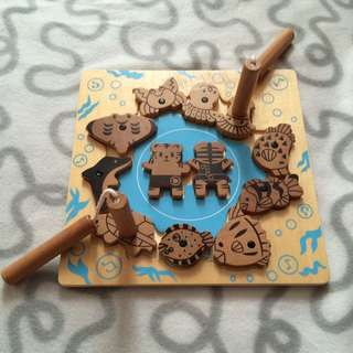 2 Sided Wooden Magnet Puzzle For 2 Players