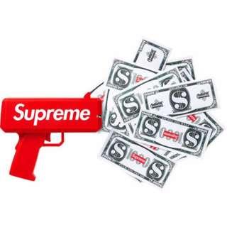 "Latest Version Supreme Money Gun ""Make It Rain"""