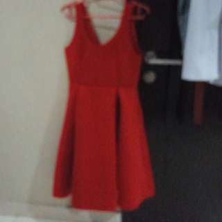 Zalora Red A-Line dress