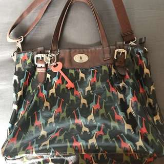Authentic Fossil Keyper Girraffe Tote