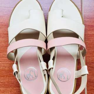 stacey cream sandals platform