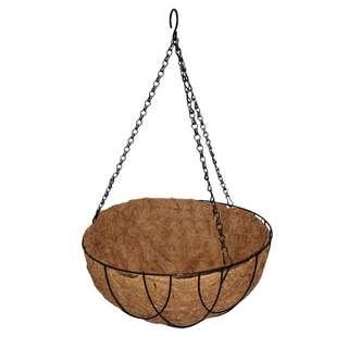 Lotus 35.5cm Hanging Basket with Liner