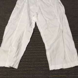 #summerwhites philosophy 12 white 3/4 pants