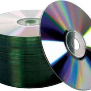 CD DVD duplication with printing sticker labels and paper sleeves or slim case