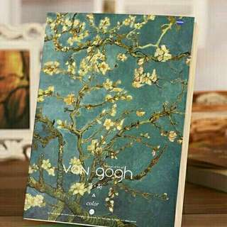 Blossoming Almond Tree by Vincent Van Gogh Sketchbook