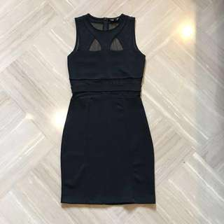 Topshop See Through Black Dress