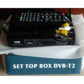 Digital DVB-T2 Unused TV Tuner Box Brand New In Box for Mediacorp Channels