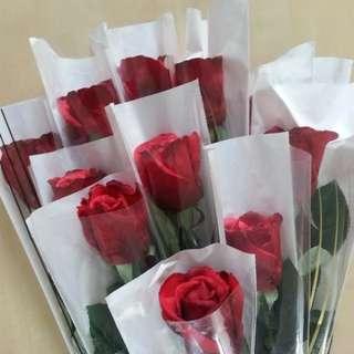 Single stalk rose / flower bouquet / valentines Bouquet -126