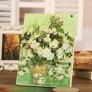 Vase with Irises by Vincent Van Gogh Sketchbook