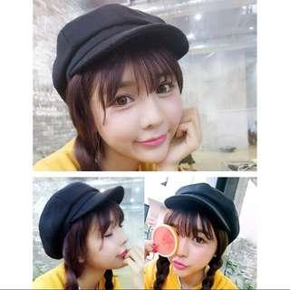 黑色 報童帽 貝蕾帽 八角帽 #舊愛換新歡