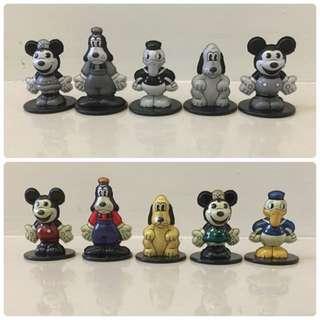 🚚 Yujin 迪士尼 復古 鐵皮 黑白 彩色 鐵製 扭蛋