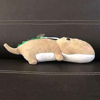 Grey Crocodile Stuffed Toy