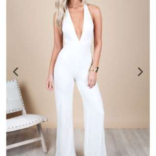 MORRISON JUMPSUIT – WHITE RENT