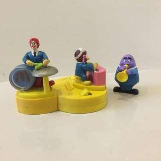 🚚 麥當勞老玩具 2001麥當勞大樂隊 三隻合售