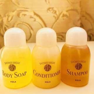 POLA SHOWER BREAK - Japan Shampoo, Conditioner, Body Soap (F017)