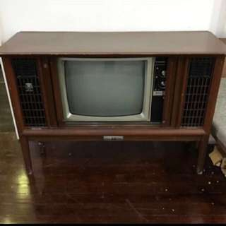 Vintage Antique Tv Box National cabinet