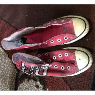 COnverse ankle merah