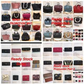 Original coach women Handbag sling bag men backpack laptop bag wallet purse Coach Micheal Kors mk bonia sembonia Guess Pandora kate Spade