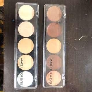 Make Up For Ever Camouflage Concealer Palettes