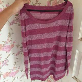 GAP PURPLE STRIPE