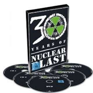 Nuclear Blast 30 Years Compilation 2017 4 CDs + 1 DVD Book set Brand New Sealed