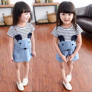 Girl's Short Sleeve Cute Dress