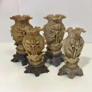 Chinese stone carving ornament (set of 4 pieces)