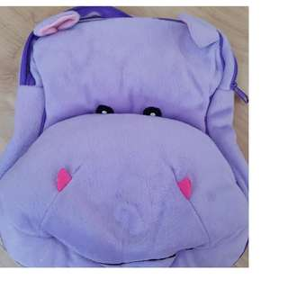 Hippo backpack for kids