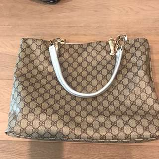 Gucci inspired tote bag with double bag
