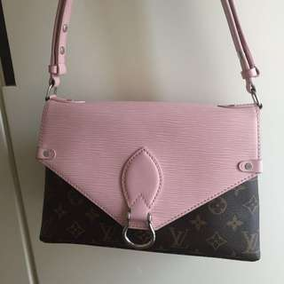LV pink saint michel shoulder bag