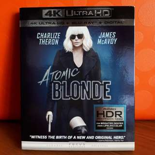 USA Blu Ray Slipcase - Atomic Blonde 4K