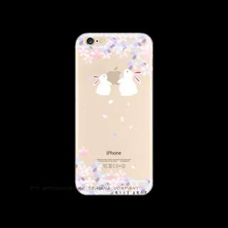 044 Transparent Soft Case casing Cover silikon Iphone 6 6s Bunny