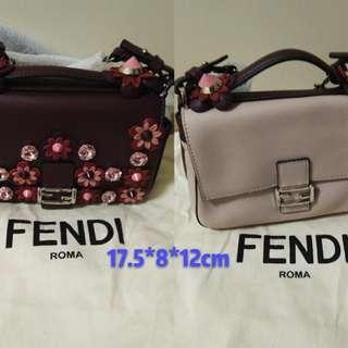 Fendi Red Flower Hamd Bag