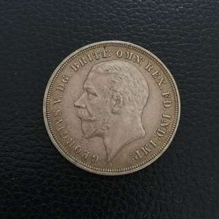 UK Great Britain 1935 silver crown coin