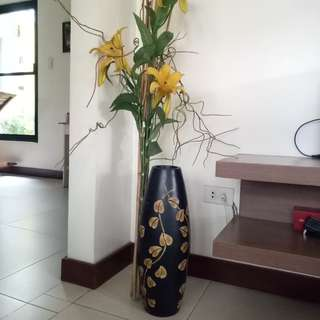 Floor Vase with Flowers