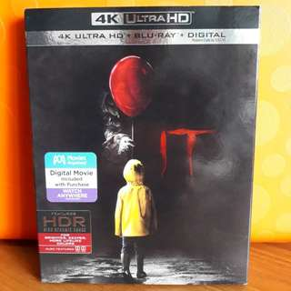 USA Blu Ray Slipcase  - It 4K Stephen King